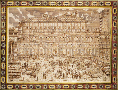 Pitti palace re-occupied, 2011 By Adam Dant