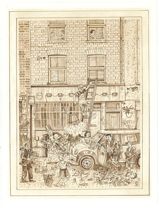 A Redchurch Street Rakes Progress 3, 2009 By Adam Dant