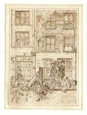 A Redchurch Street Rakes Progress 5, 2009 By Adam Dant
