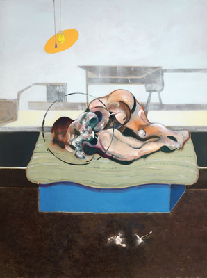 Three Studies of Figures on Beds, 1972 (centre panel)