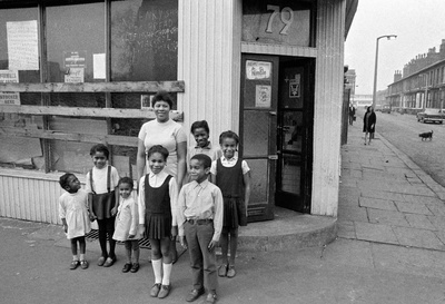 The Shop on Greame Street, Moss Side, Manchester, 1972