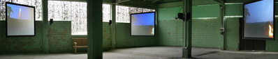 Base Camp, 3 Screen Installation, 51st International Art Exh...