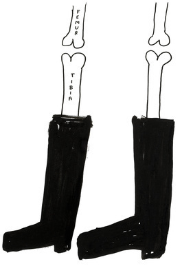 Untitled (Tibia & Femur), 2005 By David Shrigley