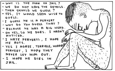 Untitled (In jail), 2006 By David Shrigley