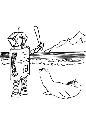 Untitled (Robot and seal), 2010