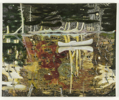 Swamped, 1990 By Peter Doig