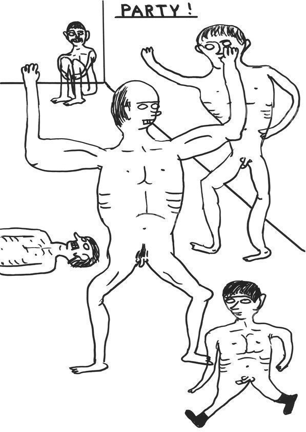 Enlarged version of Untitled (Party), 2011