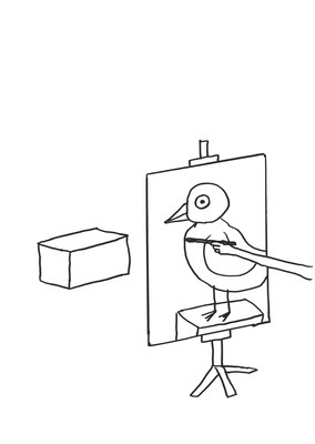 Untitled (Bird painter), 2011 By David Shrigley