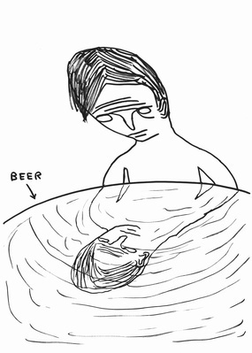 Untitled (Beer), 2012 By David Shrigley