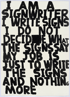Untitled (Signwriter), 2015