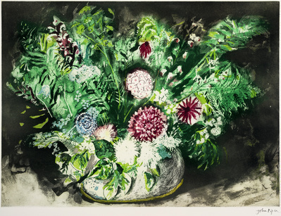Dahlias and Ferns, 1987