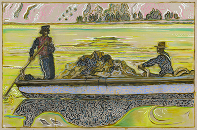 alaskan packers, yukon river 1901 (version), 2015 By Billy Childish