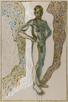 nude self portrate, 2015 By Billy Childish