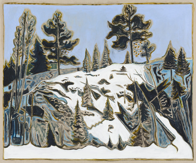 man howling to wolves, 2015 By Billy Childish
