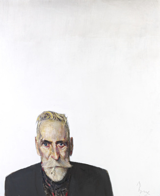 Self Portrait on White, 2012