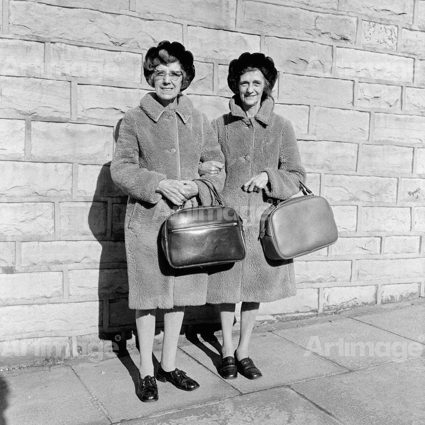 Enlarged version of North of England: Two women, Nelson, Lancashire, 1975