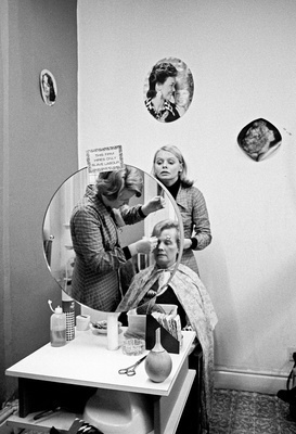 North of England: Ladies' hairdresser, Nelson, Lancashire, 1... By Daniel Meadows