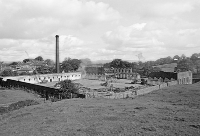 Bancroft Shed, Barnoldswick, Lancashire, during demolition, ...