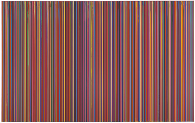 Poured Lines: Dark Red (Echo), 2007 By Ian Davenport
