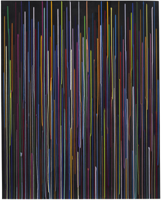 Large Black Staggered Lines Drawing, No.3, 2011 By Ian Davenport