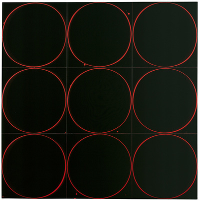 Untitled Circle Painting: Black/Red/Black, 2005 By Ian Davenport