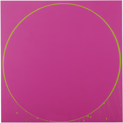 Untitled Circle Painting: Magenta/Green, 2003 By Ian Davenport