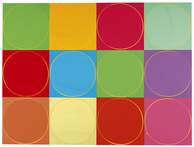 Untitled Circle Painting: 12 Multicoloured Panels, No.1, 200... By Ian Davenport