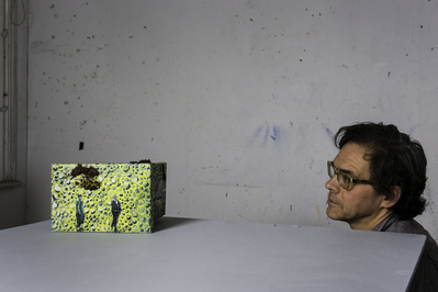 Indoor Games (in studio with artist), 2015