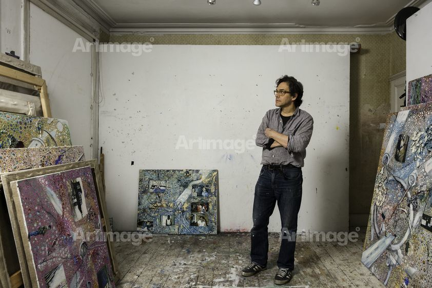 Enlarged version of Jeffrey Dennis in his London studio, 2015