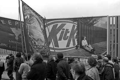 March against unemployment, Glasgow, 21 February 1981