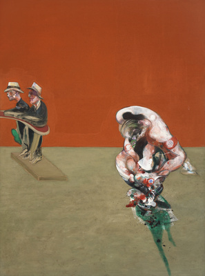 Crucifixion, 1965 (right panel) By Francis Bacon