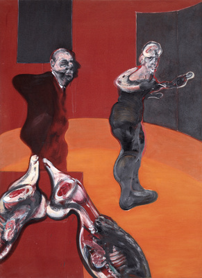 Three Studies for a Crucifixion, 1962 (left panel) By Francis Bacon