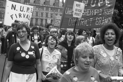 March in support of health workers, Sheffield, 20 July 1982