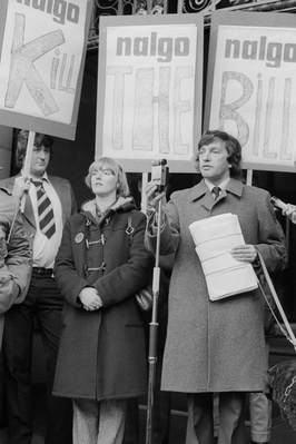 David Blunkett at a rally in support of a NALGO strike again...
