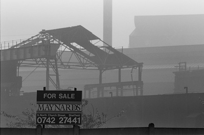 Derelict Hadfields Leeds Road steel works, formerly Brown Ba...