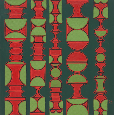 Red and Green Relief, 1976