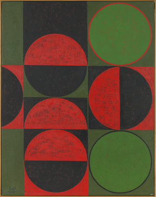 Composition in Red and Green, 1963