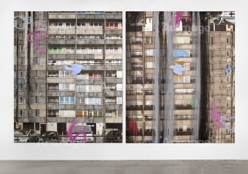 Enlarged version of Gordon House (Diptych), 2013