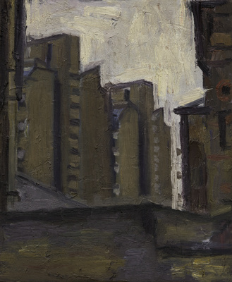 Study for Homage to Lowry, 1986