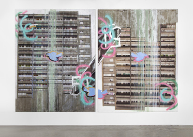 Gordon House, West Face, 51 Shades of Grey (Diptych), 2013