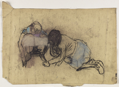 Two Girls, [Date unknown] By Joan Eardley