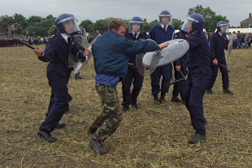 Jeremy Deller's re-enactment of the Battle of Orgreave, 17 June 2001