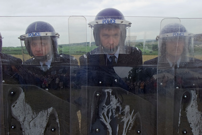 Jeremy Deller's re-enactment of the Battle of Orgreave, 17 J... By Martin Jenkinson