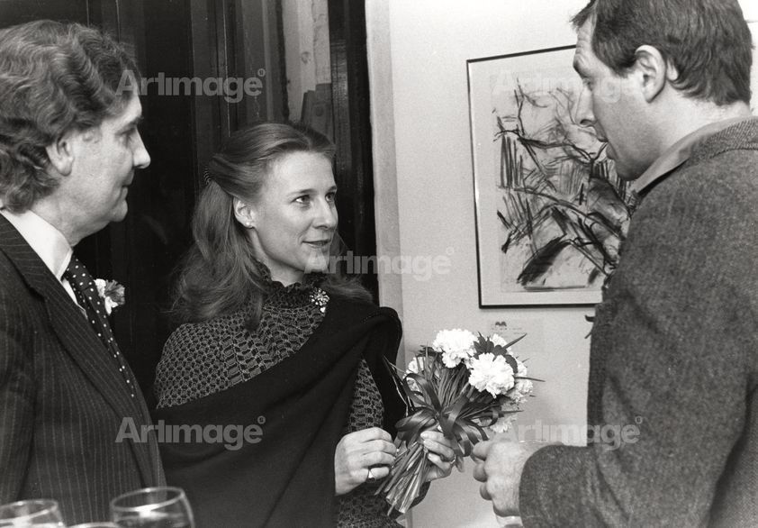 Enlarged version of Private View at Warehouse Gallery, Covent Garden,  1976