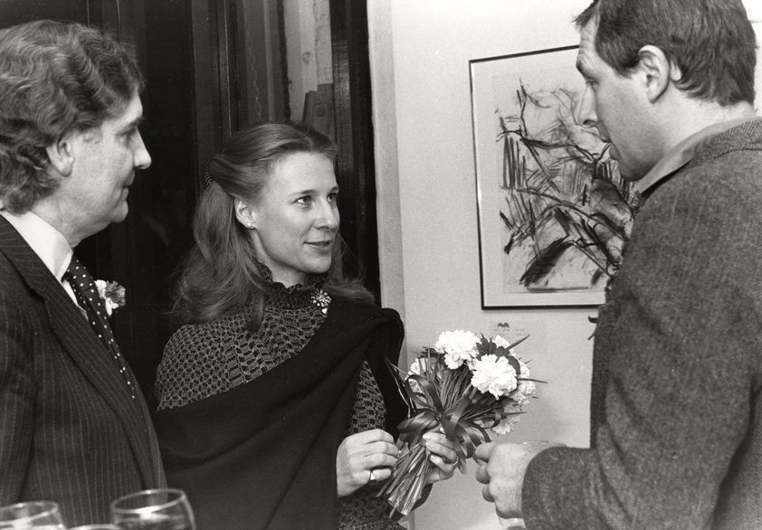 Private View at Warehouse Gallery, Covent Garden,  1976