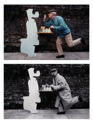 Self-portrait with chess-playing Hollywood Star, 1999