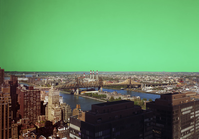 True Stories New York (Green), 2008 By Hannah Collins