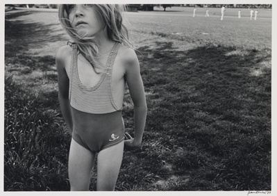Girl in swimsuit, Ashbourne, 1977 By Paul Hill