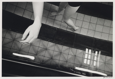 Arm and legs in water, Buxton, 1975