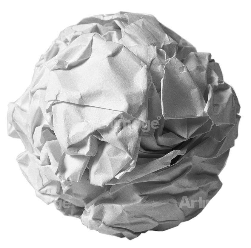 Work No. 88, A sheet of A4 paper crumpled into a ball, 1995